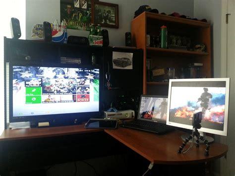 l shaped desk gaming setup my ultimate gaming setup ultimate gamer