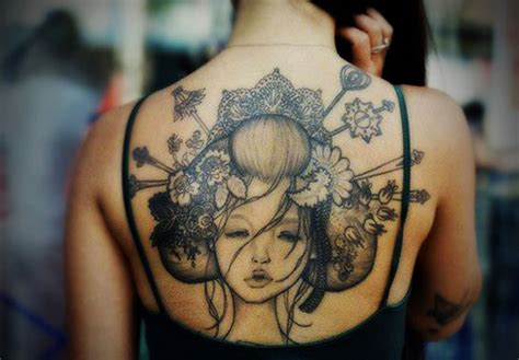 best full back tattoos for women tattoo designs