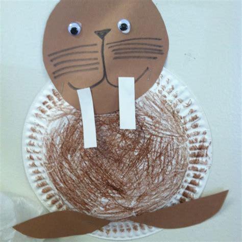 walrus paper plate craft walrus crafts