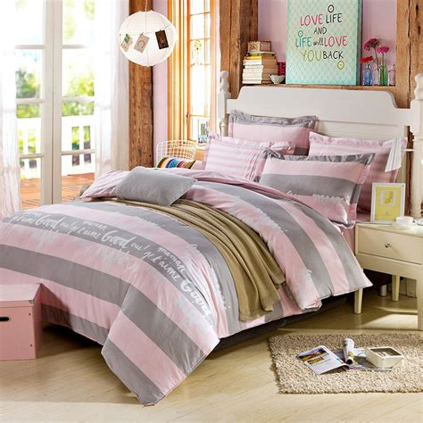 pink and grey bed sets beautiful dull grey and pink cotton bedding set ebeddingsets