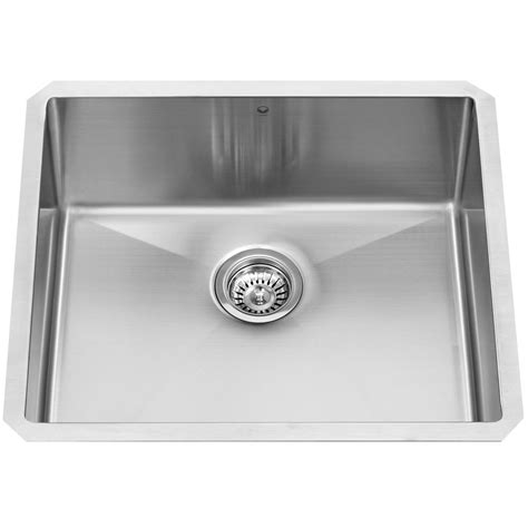 stainless steel undermount kitchen sinks single bowl vigo undermount stainless steel 23 in single bowl kitchen