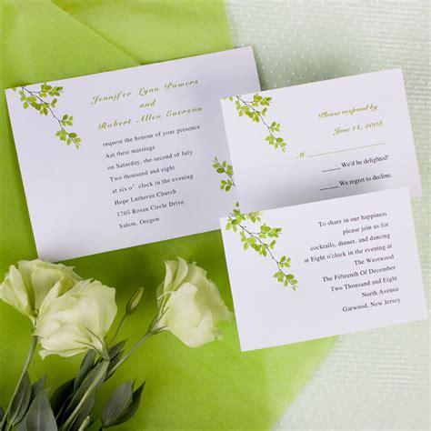 wedding invitation card modern green wind bell printable wedding