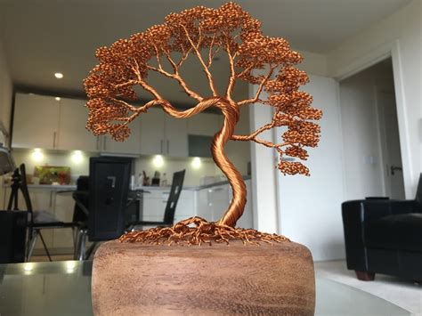 copper wire craft projects wire tree sculptures by andy elliott by andy elliott