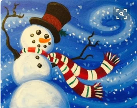 paint nite snowman children and canvas paint and pancake at