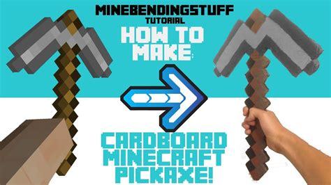 origami minecraft pickaxe how to make a cardboard minecraft pickaxe
