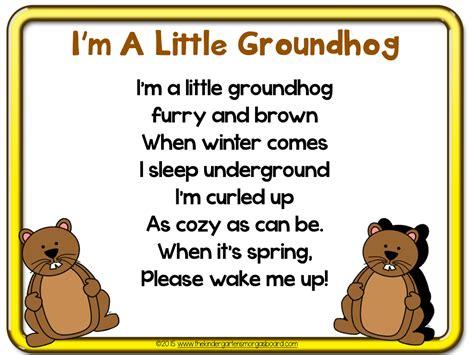 groundhog day poetry the kindergarten smorgasboard