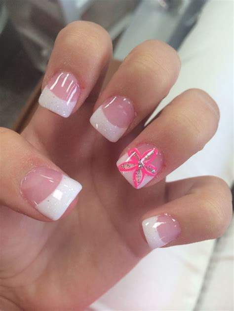 acrylic paint nail tips best 25 acrylic white tips ideas on
