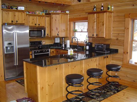 home kitchen furniture log cabin kitchens with modern and rustic style homestylediary