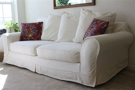 white slipcover for sofa white slipcovered sofa for living room homesfeed
