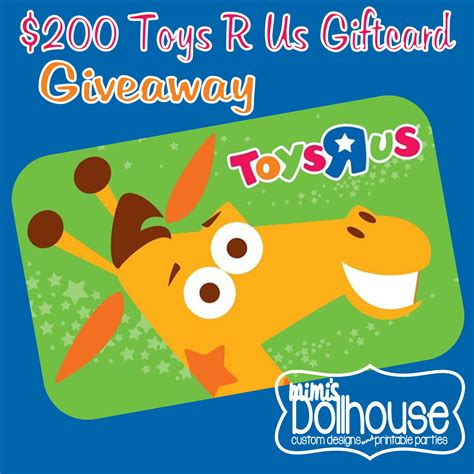 gifts toys r us giveaway 200 toys r us gift card giveaway mimi s dollhouse