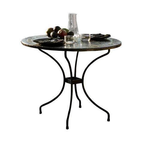 table ronde jardin fer forg 233 et terre cuite zellige gold terracota 23