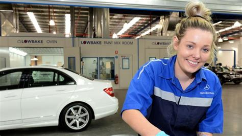 spray painter apprenticeship melbourne apprentice takes on a beaut at mercedes autobody