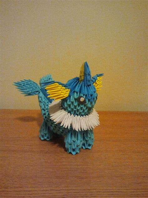how to make a 3d origami pikachu vaporeon 3d origami origami