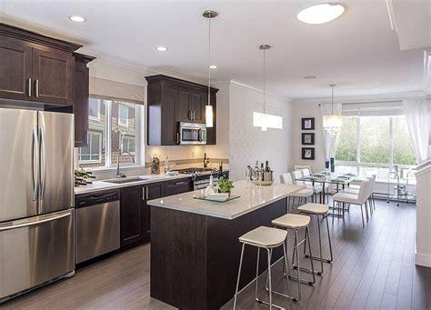 one wall kitchen with island designs one wall hardwood floors flush kitchen island flat panel cabinets alinea designs
