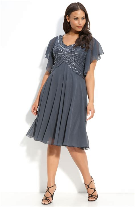 J Kara Beaded Dress Plus In Gray Grey Multi Lyst