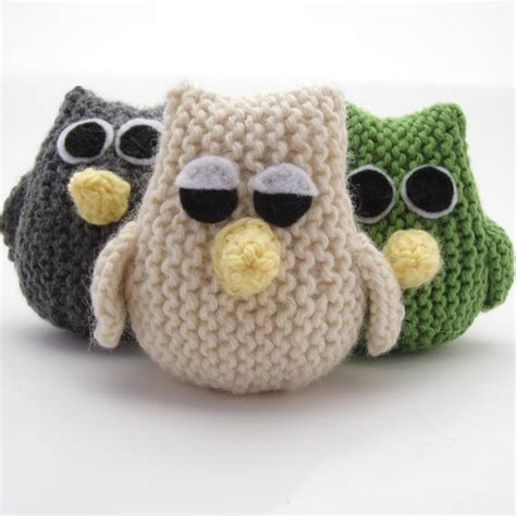 knitting patterns for owls owl by natty knits craftsy
