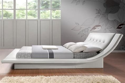 modern king size bed frame calyx modern bed with curved headboard