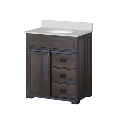 bathroom vanity sink top shop style selections morriston distressed java undermount