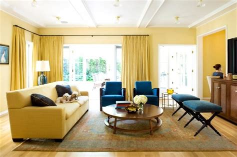 yellow living room 20 charming blue and yellow living room design ideas rilane