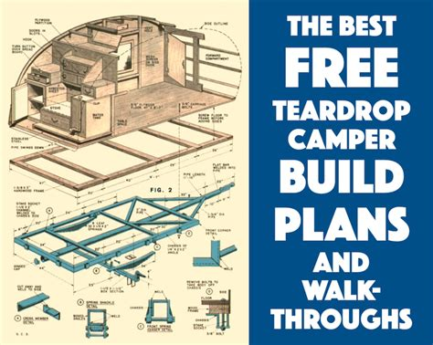 build floor plans free best free teardrop trailer cer plans and walk throughs