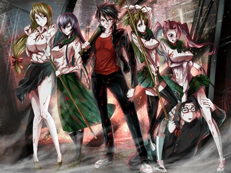 high school of the dead high school of the dead fanservice anime images