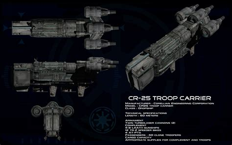 Modification Center Republic Fleet by Cr 25 Troop Carrier Ortho By Unusualsuspex On Deviantart