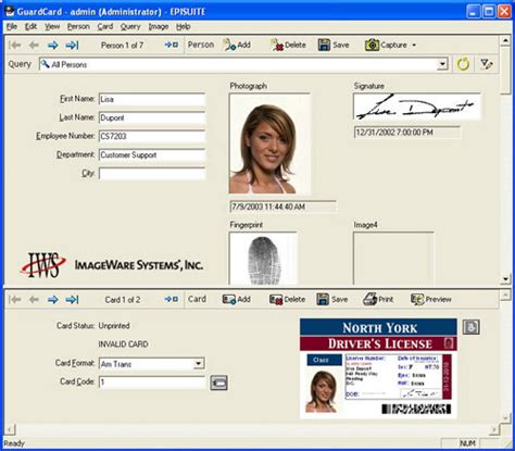 photo id card software free epi suite classic id card software 11 03 01 id wholesaler