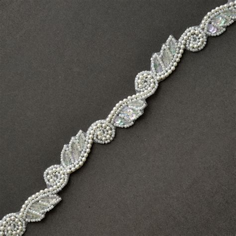 bead trim 3 4 quot sequin beaded pearl trim by yd ff 4439