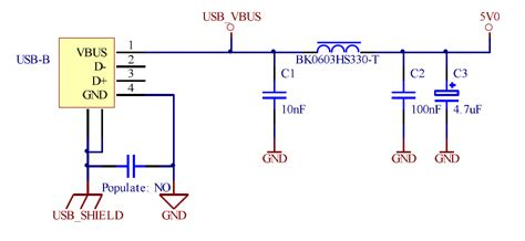 ferrite bead vs inductor voltage regulator isolating power for an infrared