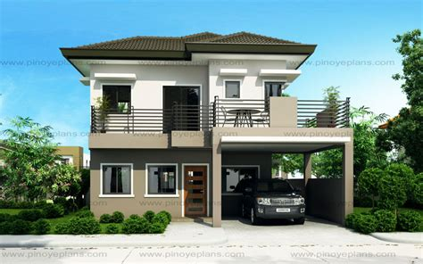 modern 2 story house plans sheryl four bedroom two story house design