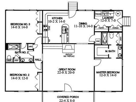 split bedroom house plans small home open floor house plans small open concept homes