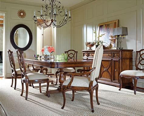 stanley furniture dining room set arrondissement famille traditional dining set by stanley