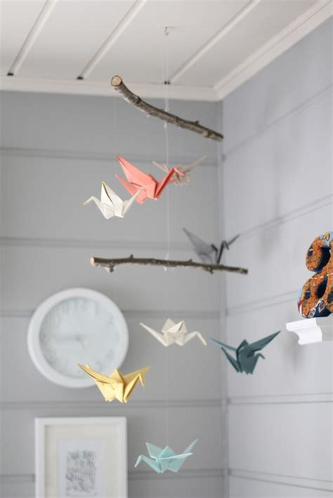 origami baby mobile mobiles origami and origami birds on