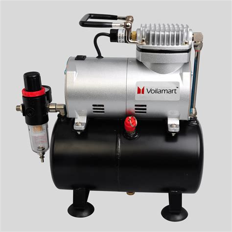 spray painting furniture with compressor 1 6hp airbrush compressor kit filter holder cake craft