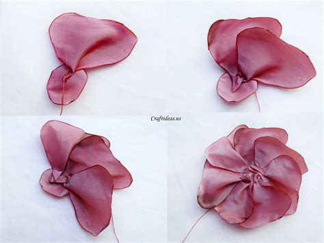 how to make fabric fabric flower craft ideas