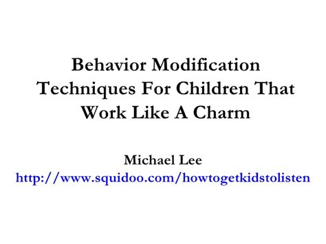 Behaviour Modification Of A Child by Validation Messages Success Message Fail Message