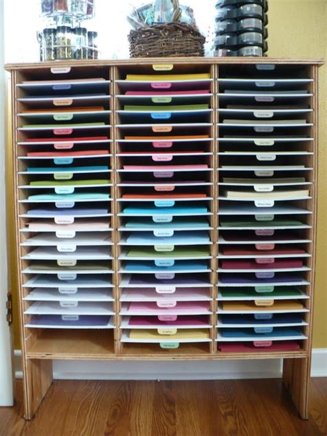 how to store craft paper if you use stin up cardstock how splitcoaststers