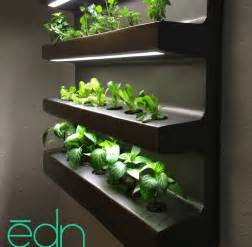 indoor hydroponic vegetable garden wall hanging edn grows number of different vegetables and