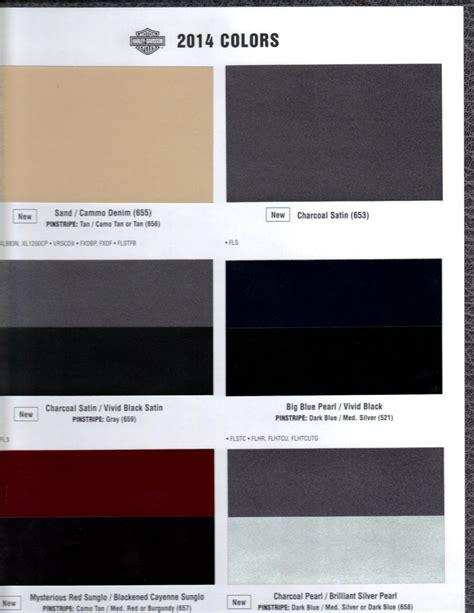 paint colors harley davidson 2014 color chart page 5 harley davidson forums