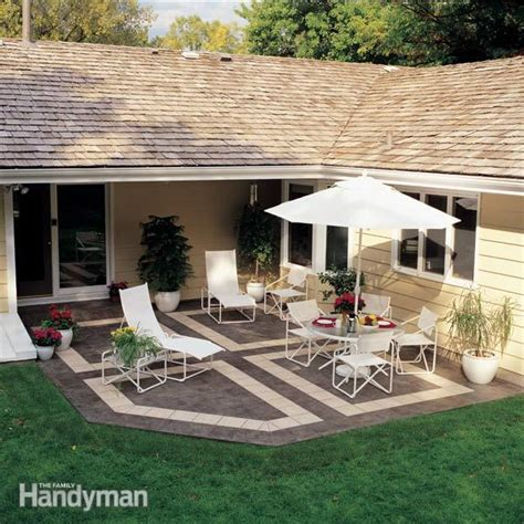 how do you build a patio how to build a patio with ceramic tile family handyman