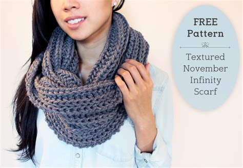 free easy infinity scarf knitting pattern purllin textured november infinity scarf free pattern