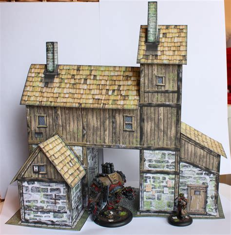 paper craft building another papercraft building of steam and axe