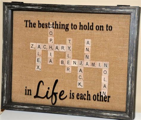 unique scrabble words custom scrabble tile family shadow box by frameanameco on