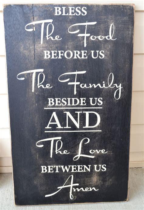 custom prayer dining room signs custom prayer signs family signs