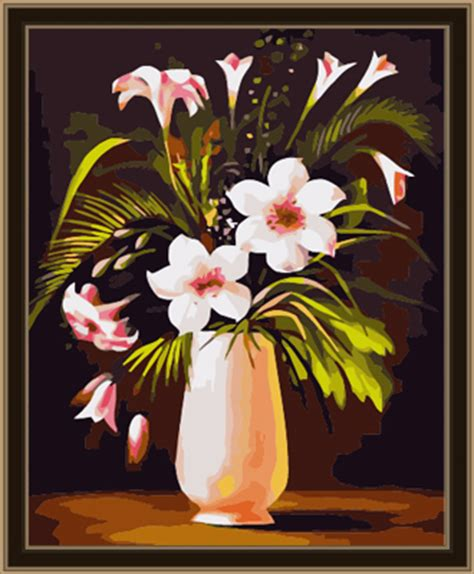 Calla Lily Home Decor flowers diy canvas painting iiicare