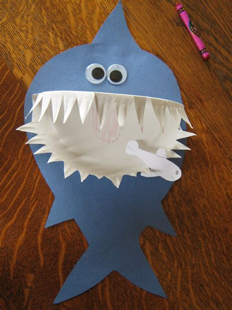 craft paper plate shark paper plate craft preschool crafts for