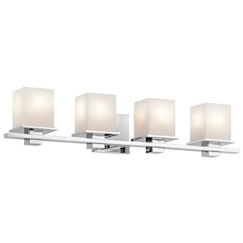 modern bathroom lighting fixtures kichler 45152ch tully contemporary chrome finish 6 5 quot