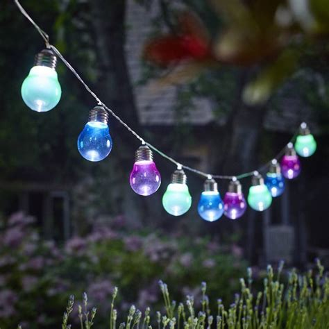 garden string lights solar lightbulb string lights by garden trading