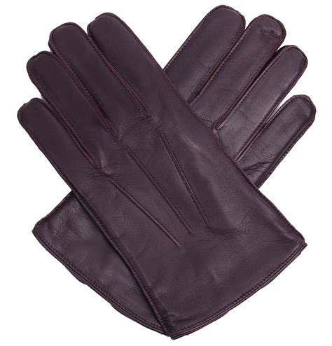 brown leather gloves mens all gloved up s classic 3 point brown leather gloves