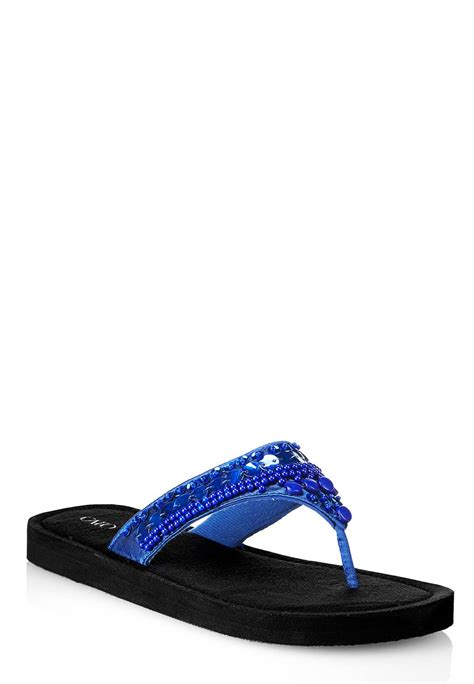 beaded flip flops cato fashions